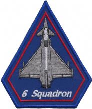 No. 6 Squadron Royal Air Force RAF Eurofighter Typhoon Spearhead Embroidered Patch